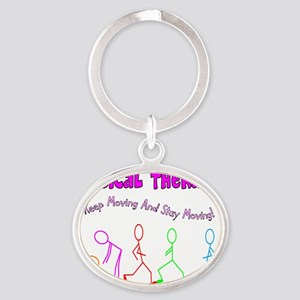 Physical Therapy Oval Keychain