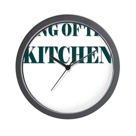 KING OF THE KITCHEN Wall Clock