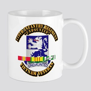 Army - 119th Infantry Regiment w SVC Ribbon Mug