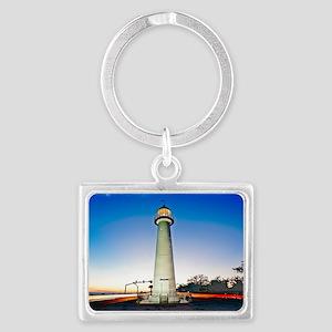 Biloxi Lighthouse Landscape Keychain