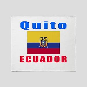 Quito Ecuador Designs Throw Blanket