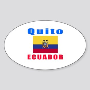 Quito Ecuador Designs Sticker (Oval)