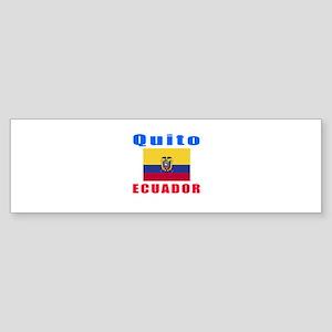 Quito Ecuador Designs Sticker (Bumper)