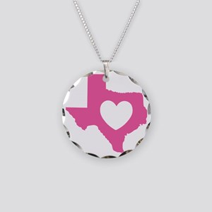 heart_pink Necklace Circle Charm