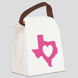 heart_pink Canvas Lunch Bag