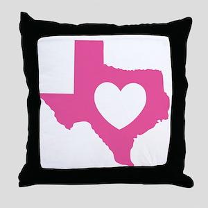 heart_pink Throw Pillow