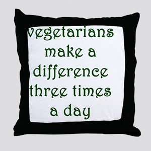 vegthree Throw Pillow