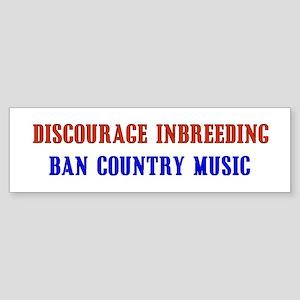 Discourage Inbreeding Bumper Sticker