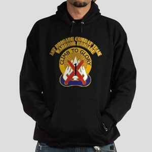 DUI - 1st BCT - Warrior Brigade with Text Hoodie (
