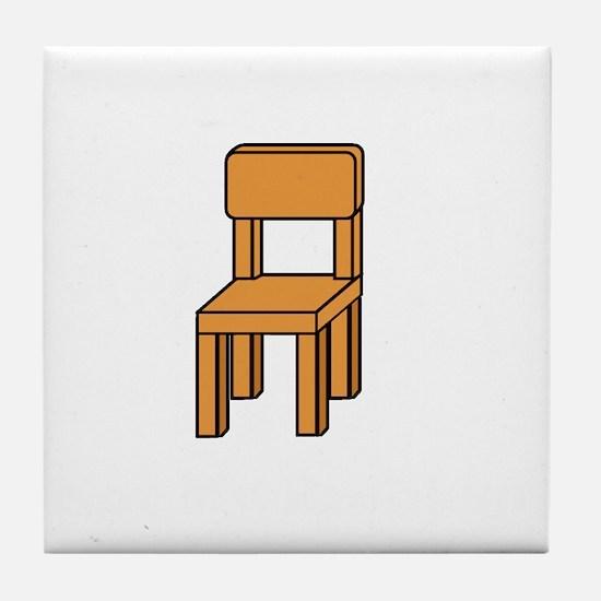 notmychairwhite Tile Coaster