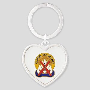DUI - 1st BCT - Warrior Brigade Heart Keychain