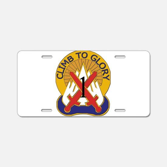 DUI - 1st BCT - Warrior Brigade Aluminum License P