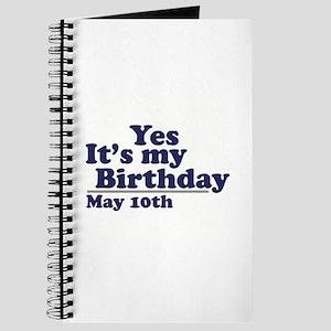 May 10 Birthday Journal