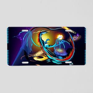 Blue Galaxy Dragon -Yardsig Aluminum License Plate