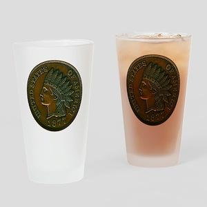 pennyIndian-C8trans Drinking Glass