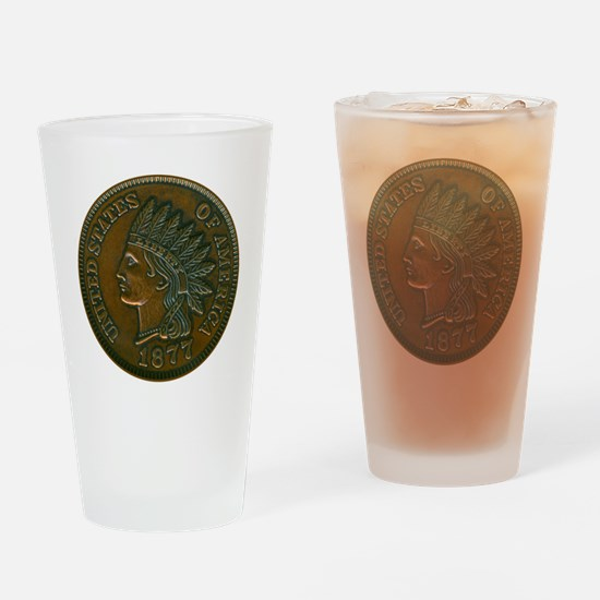 pennyIndian-C8trans Drinking Glass