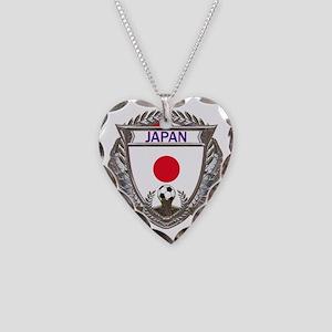 2-Japan Soccer bear Necklace Heart Charm
