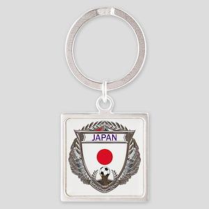 2-Japan Soccer bear Square Keychain