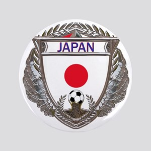 "2-Japan Soccer bear 3.5"" Button"