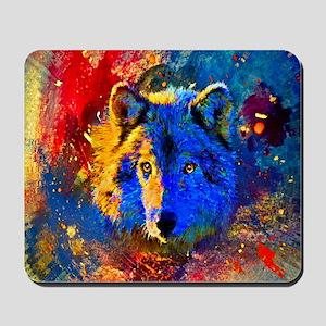 Rainbow Wolf Mousepad