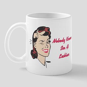 Nobody Knows Im A Lesbian Mug