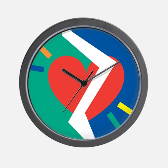 Separated Heart Wall Clock