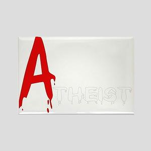 Scarlet Atheist Rectangle Magnet