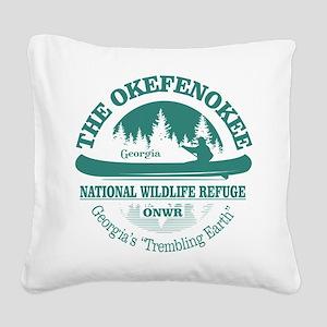 Okefenokee Square Canvas Pillow