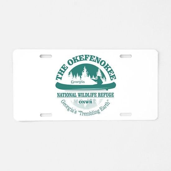 Okefenokee Aluminum License Plate