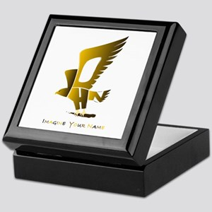 John gold and brown eagle Keepsake Box