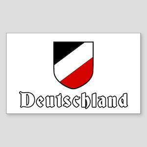 German empire tricolor Rectangle Sticker