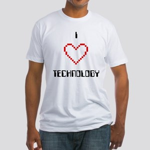 I Love (Heart) Technology - Fitted T-Shirt
