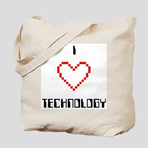 2-Sided I Love (Heart) Technology - Tote Bag