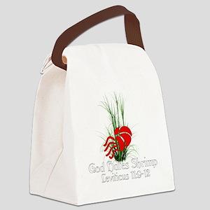 God Hates Shrimp Canvas Lunch Bag