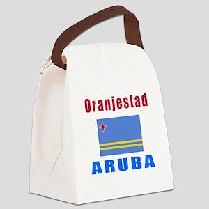 Oranjestad Aruba Designs Canvas Lunch Bag