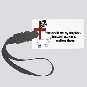 I am Not a Sheep Large Luggage Tag