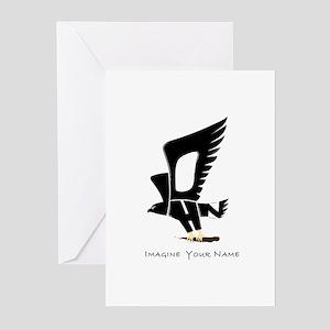John black eagle Greeting Cards (Pk of 10)