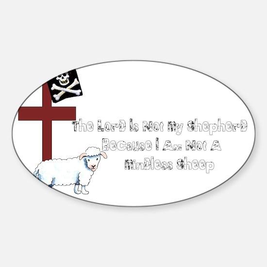 Not A Mindless Sheep Sticker (Oval)
