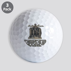 Lincoln on Rich and Poor square white Golf Balls