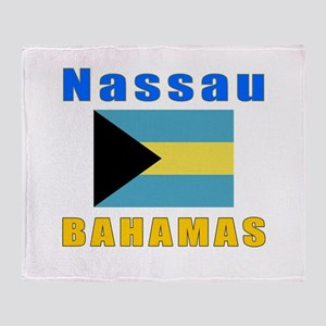 Nassau Bahamas Designs Throw Blanket
