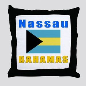 Nassau Bahamas Designs Throw Pillow