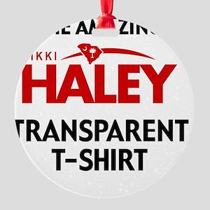 HALEY T-SHIRT-pocket Round Ornament