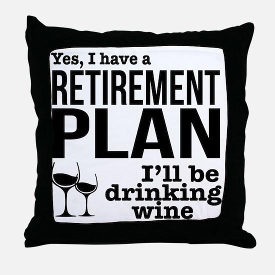 Cute Retire Throw Pillow