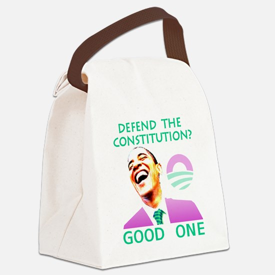 Defend Canvas Lunch Bag
