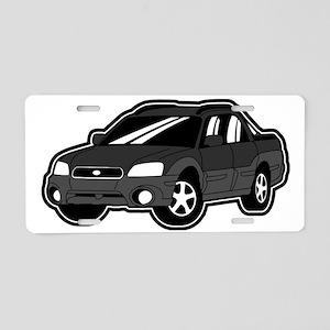 baja_blackgray Aluminum License Plate