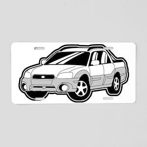baja_white_2 Aluminum License Plate