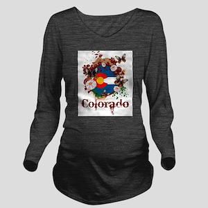 Butterfly Colorado Long Sleeve Maternity T-Shirt