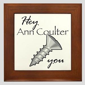 ann coulter_sc Framed Tile