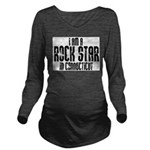 Rock Star In Connecticut Long Sleeve Maternity T-S