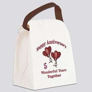 two hearts 5 Canvas Lunch Bag